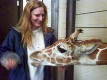 Bonnie & giraffe