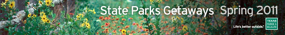 Spring 2011 State Parks Getaways E-newsletter header