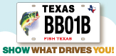 New bass license plate spotlight