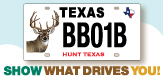 Deer License Plate Spotlight