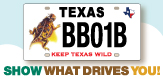 New horned lizard license plate spotlight
