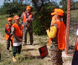 Hunter Education Instructor and Students